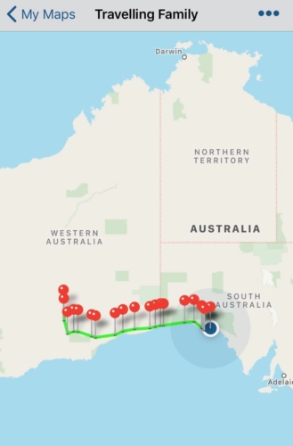The progress so far! Travelling Family Australia