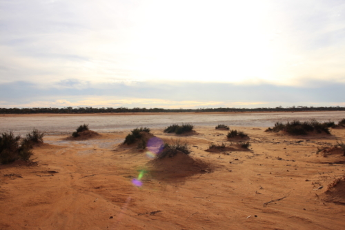 A salt lake near Fraser Range.Travelling Family Australia