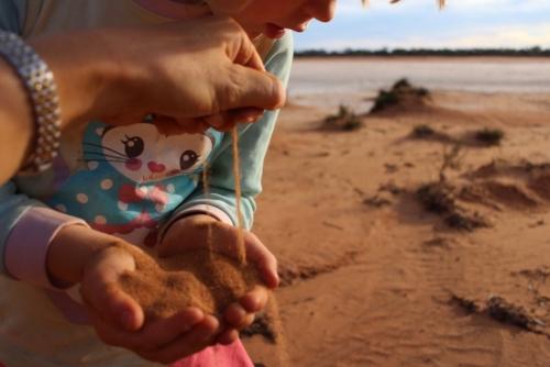 A salt lake near Fraser Range.Travelling Family Australia