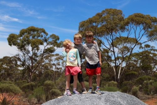 The excitement of day one!Travelling Family Australia