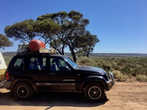 A stop to cook up all our veggies before we get to the WA/SA border.Travelling Family Australia