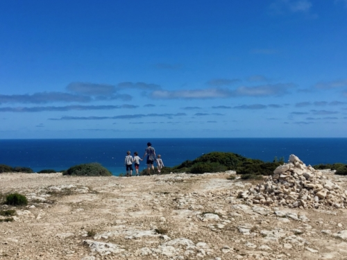 Our First glimpse of the South Australian ocean! The Great Australian Bight.Travelling Family Australia