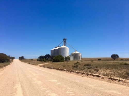 Silo, on the way to Fowler's Bay.Travelling Family Australia